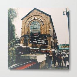 Camden Lock Metal Print