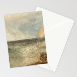 View off Margate, Evening by William Turner Stationery Cards