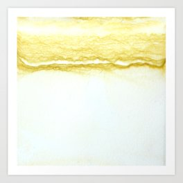 Yellow Surf Art Print