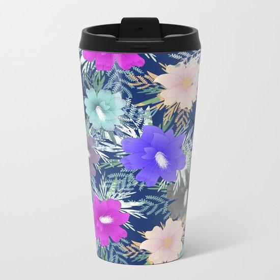 Floral #2 Metal Travel Mug