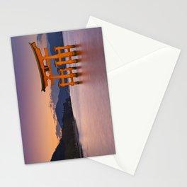 II - Miyajima torii gate near Hiroshima, Japan at sunset Stationery Cards
