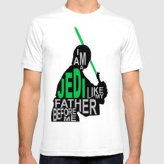 I Am A Jedi SMALL White Mens Fitted Tee