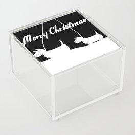 Westie White Christmas Acrylic Box