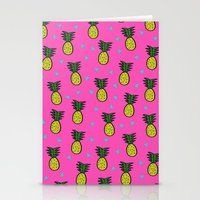 pineapples Stationery Cards featuring Pineapples by Sandra Arduini