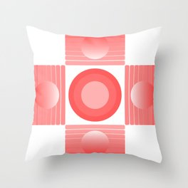 new red pattern Throw Pillow