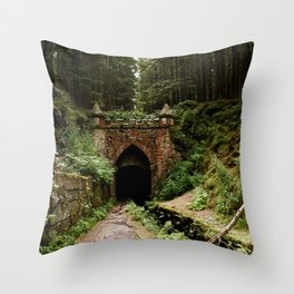 Wooded Entrance Throw Pillow