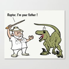 Raptor, I'm your father ! Canvas Print