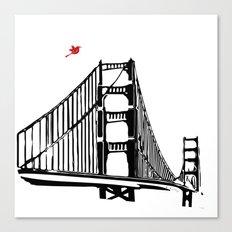 The Golden Gate Bridge Silhouette  Canvas Print