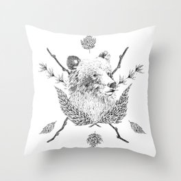 Bear Hug Throw Pillow