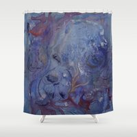 hippo Shower Curtains featuring Hippo by Emily Tucci
