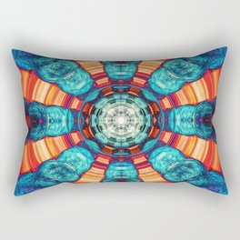 Blue And Orange Vortex Rectangular Pillow