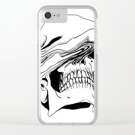 Skull (Liquify) Clear iPhone Case