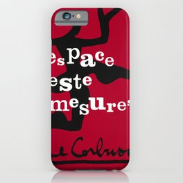 retro plakat le corbusier espace geste mesures iPhone Case