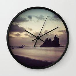 Long Exposure sunset in Benijo Beach Wall Clock