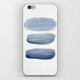 Watercolor blue 1 iPhone Skin