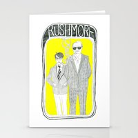 rushmore Stationery Cards featuring Rushmore by Mexican Zebra