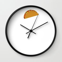 If I Keep Running I'll Come Across a Taco Stand Eventually Wall Clock