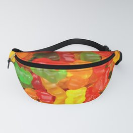 red orange yellow colorful gummy bear Fanny Pack