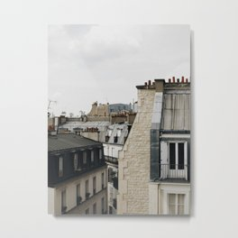 Tops of Paris Metal Print