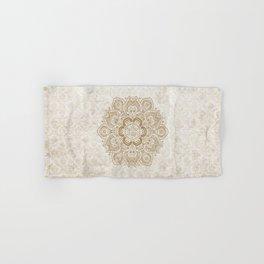 Mandala Temptation in Cream Hand & Bath Towel