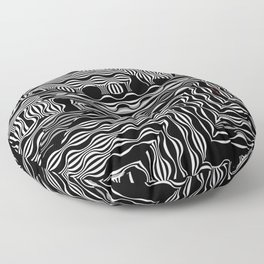 EXOTIC BLACK AND WHITE PATTERN Floor Pillow