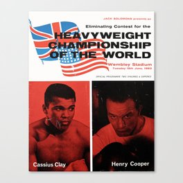 Boxing and Boxers: Cassius vs Cooper Canvas Print