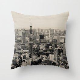 Sepia Tokyo Throw Pillow