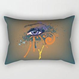 Grunge violet eye Rectangular Pillow