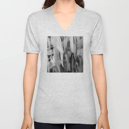 Abstract Painting in Noir Unisex V-Neck