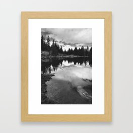 Mirror Lake BW Framed Art Print