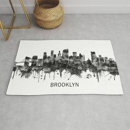 Brooklyn New York Skyline BW Rug