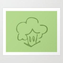 Mr. Broccoli Art Print