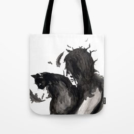 Black Cat Pixel Tote Bag