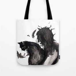Black Cat Pixel Tote Bag