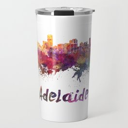 Adelaide skyline in watercolor Travel Mug