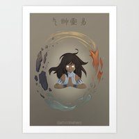 Korra The Avatar Art Print
