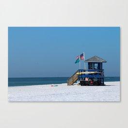 Siesta Key Lifeguard Station Canvas Print