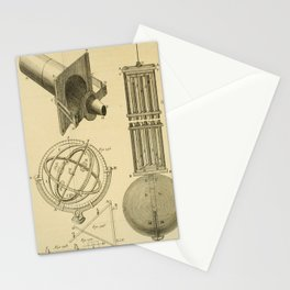 Jérôme Lalande's Astronomie (1771) - Telescope Apparatus 7 Stationery Cards
