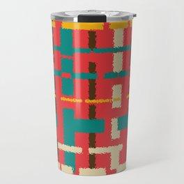 Colorful line segments Travel Mug