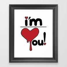 i'm over you! Framed Art Print