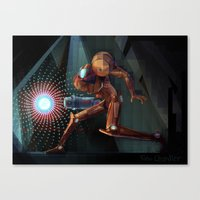 samus Canvas Prints featuring Samus! by RoboChandler