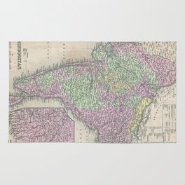 Vintage Map of India (1853) Rug