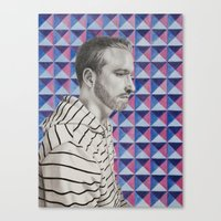 mike wrobel Canvas Prints featuring Mike by Caitlin Audrey Smith