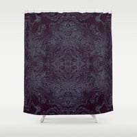 tatoo Shower Curtains featuring Tatoo weft by NumericEric