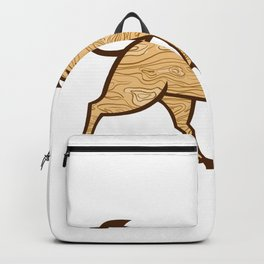 Wood Boar Marching Side Retro Backpack