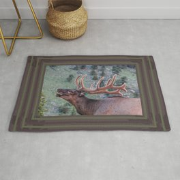 Elk Calling | Rocky Mountains Rug