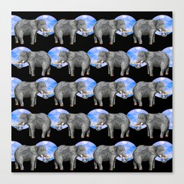 Dance of the elephants Canvas Print