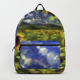 Summer Sunflowers Van Gogh Backpack