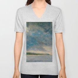 "John Constable ""Coastal Scene with Cliffs"" Unisex V-Neck"