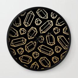 Black & Gold Crystal Pattern Wall Clock